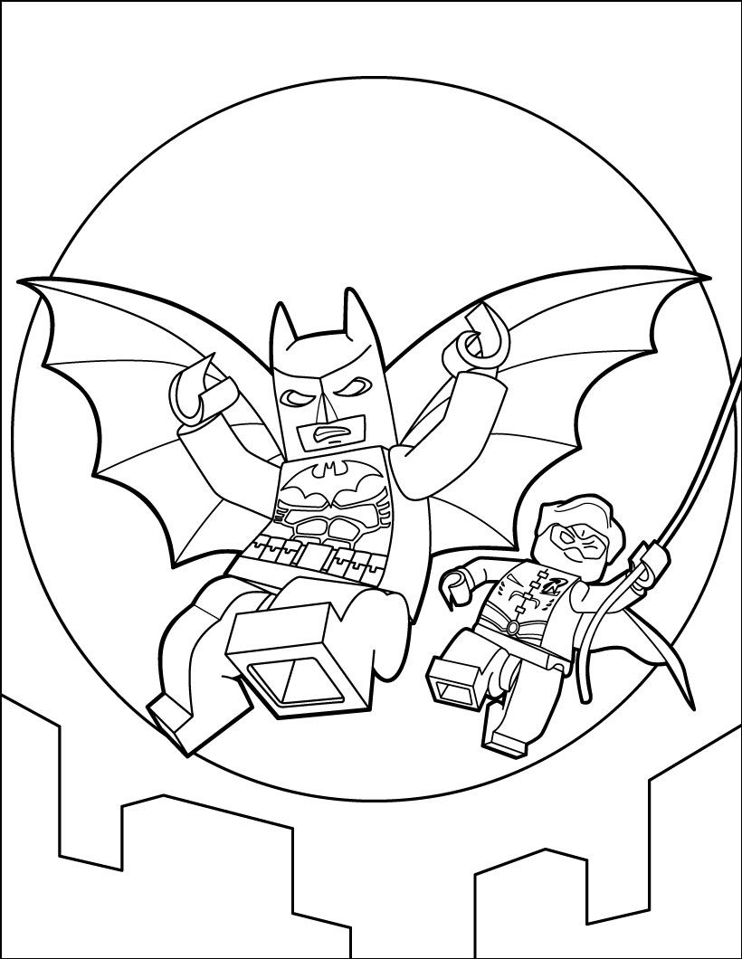 Lego Batman Coloring Pages Activity For Kids Lego Coloring Pages