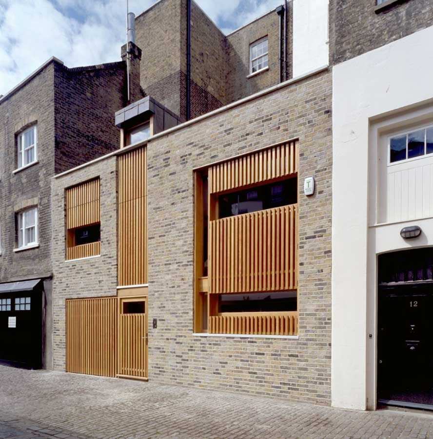 Mews house belsize architects modern development developed on an infill site between two victorian