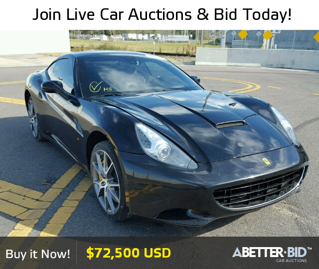 Salvage 2012 FERRARI ALL MODELS For Sale