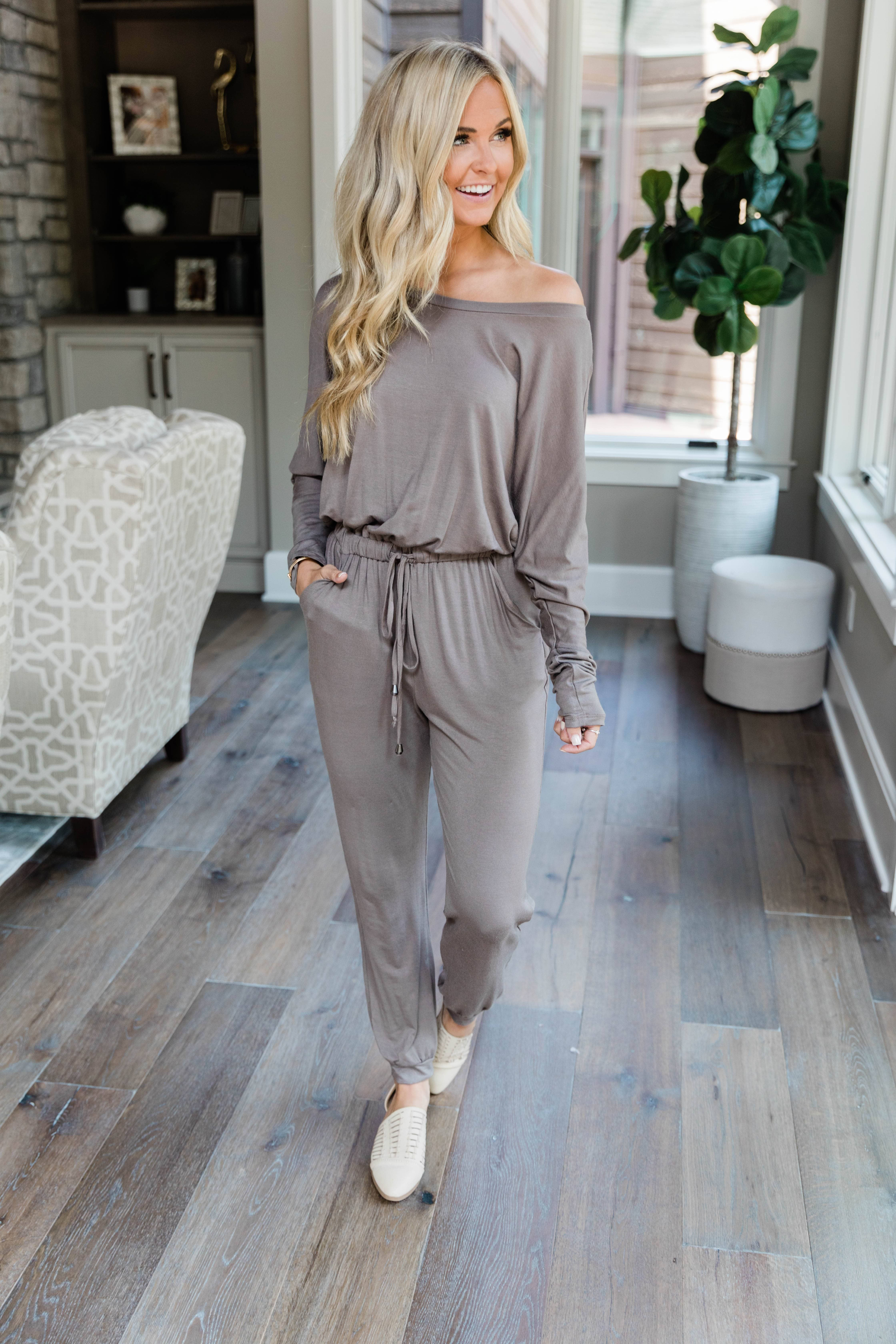 Love Is All Around You Mocha Jumpsuit CLEARANCE #casualjumpsuit
