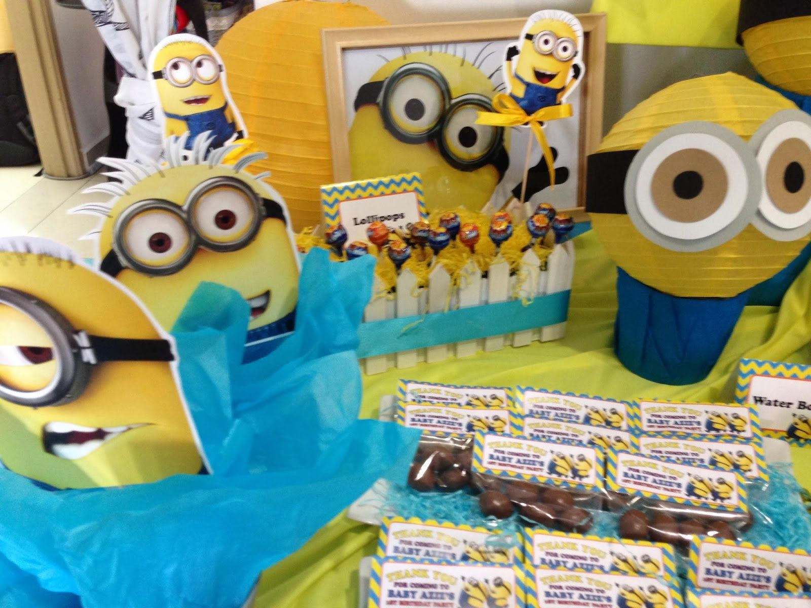 Gmail birthday theme - It Was A Rush Order For Aina To Organise A Minions Theme Birthday Party For Her Boy Who Turns 1 Recently Contact