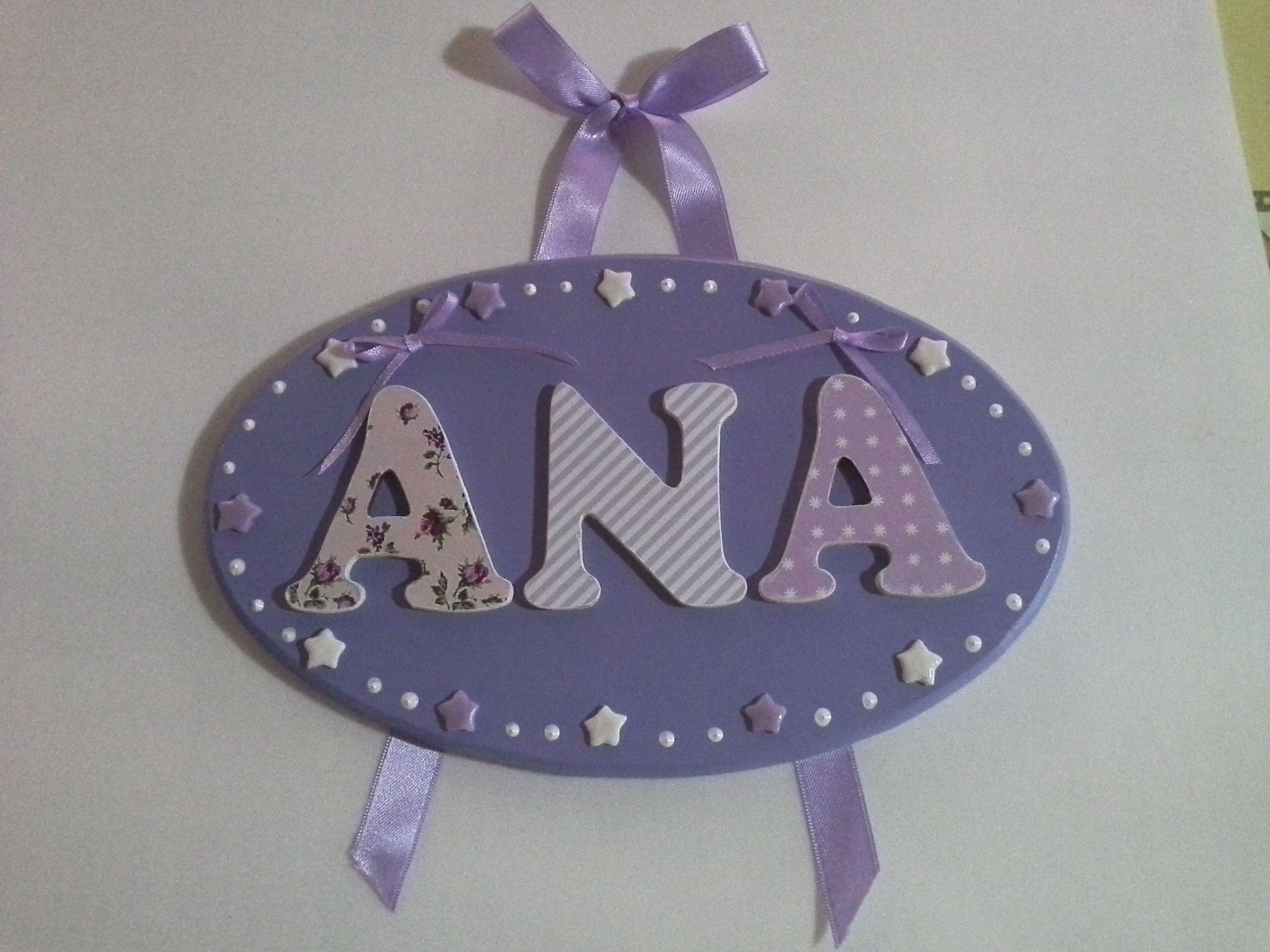 Cartel para el cuarto con estrellitas y las letras con for Cuartos decorados con estrellas