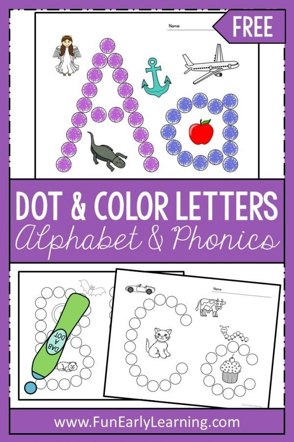 Dot And Color Letters And Sounds Activity Free Printable For