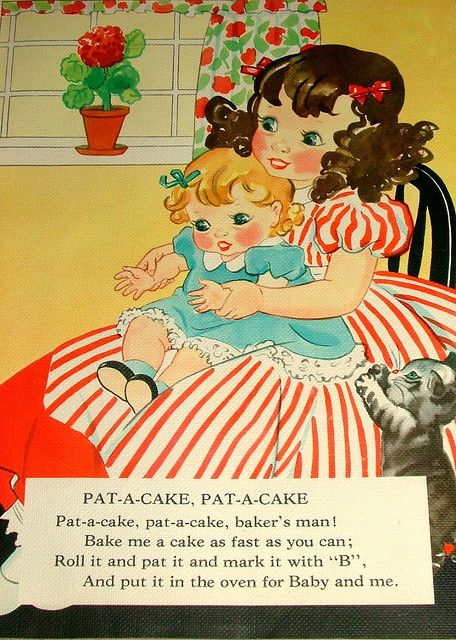 Page From Vintage Linen Nursery Rhymes Book With Images Old