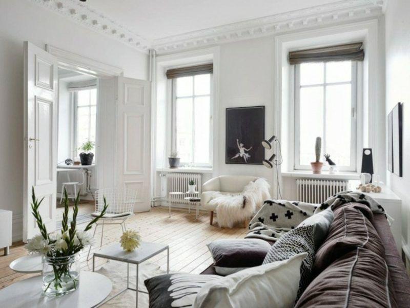 skandinavische Möbel Wohnzimmer puristisch neutrale ...