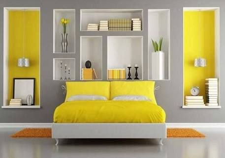 image result for grey and yellow bedroom wohnen pinterest zimmer farben schlafzimmer und. Black Bedroom Furniture Sets. Home Design Ideas