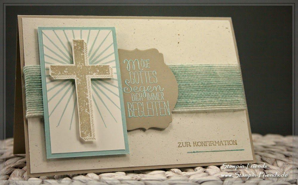stampin' up karte zur kommunion, karte zur konfirmation, gesegnet, Einladung