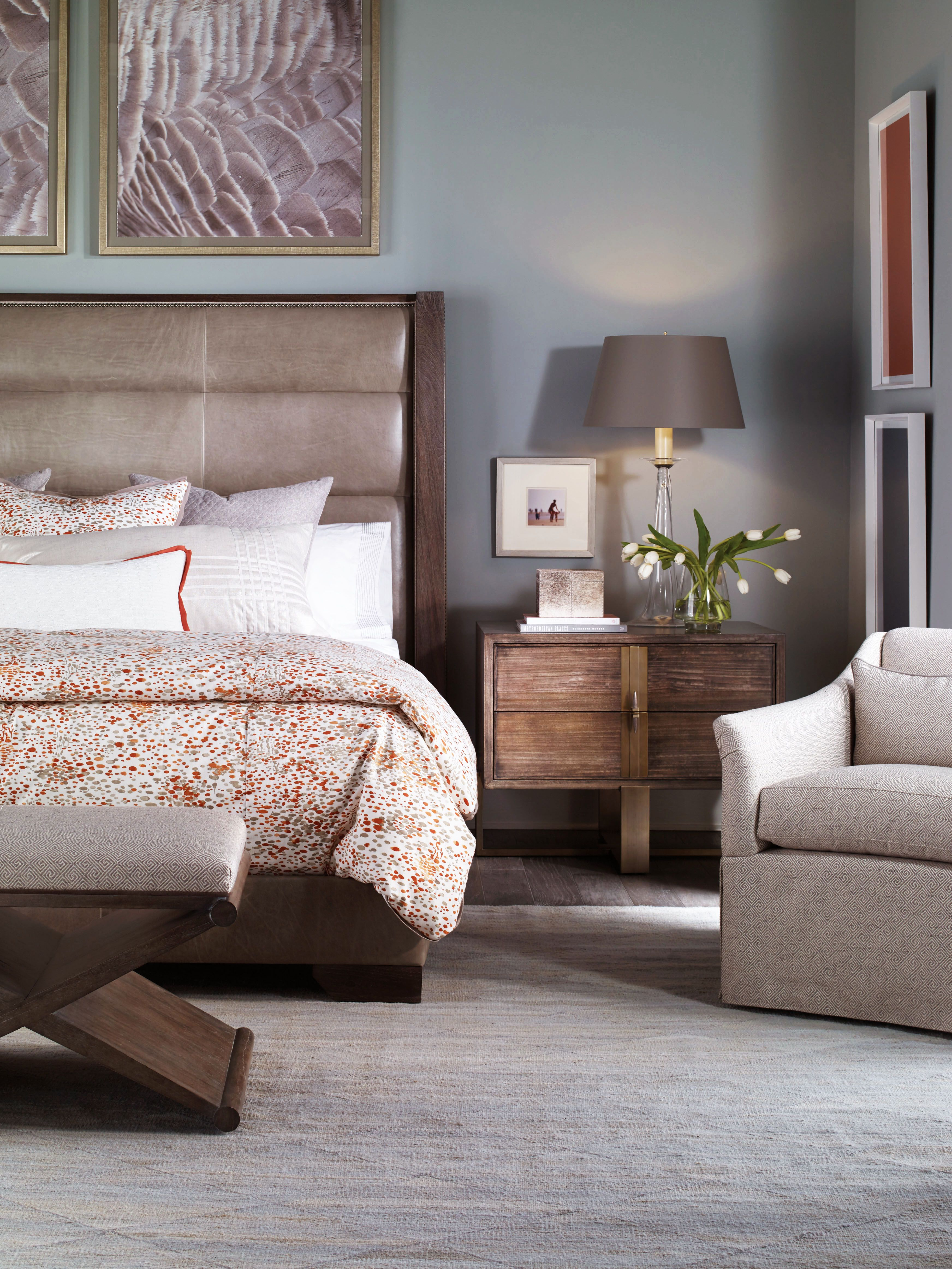 Modern bedroom setting, all furnished by Avenue Design