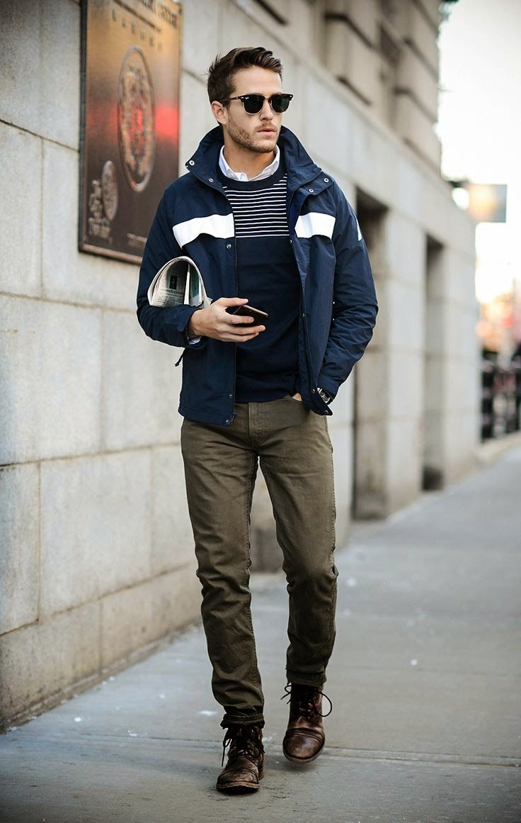 Dark Green Pants Outfit Men - Jon Jean