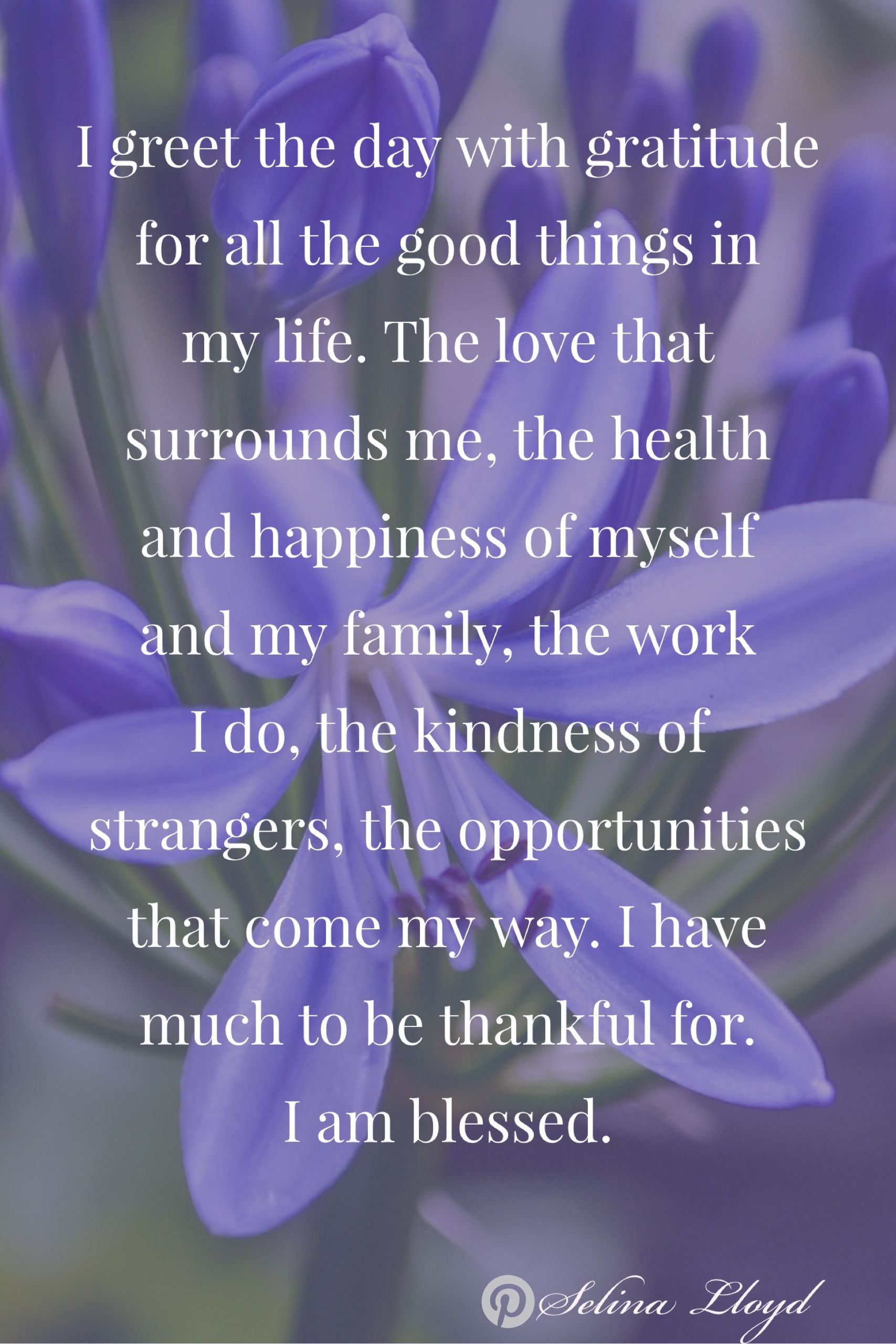 Affirmation Every Day I Give Thanks For My Life Gratitude Quotes My Life Quotes Positive Quotes For Life