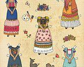 Frida Kahlo Paper Doll Poster
