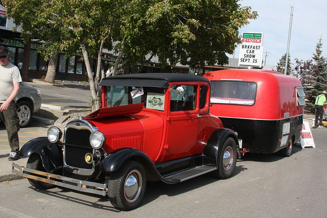1929 Ford with Boler trailer by dave_7, via Flickr