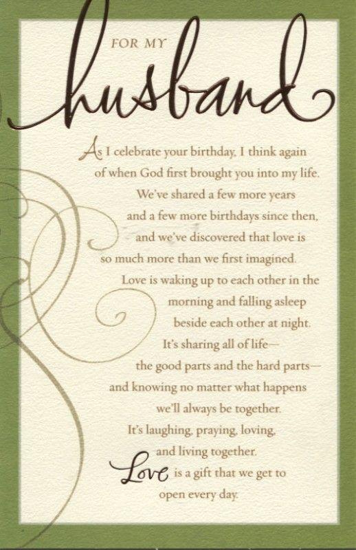 Poemsfor Birthdays Husband