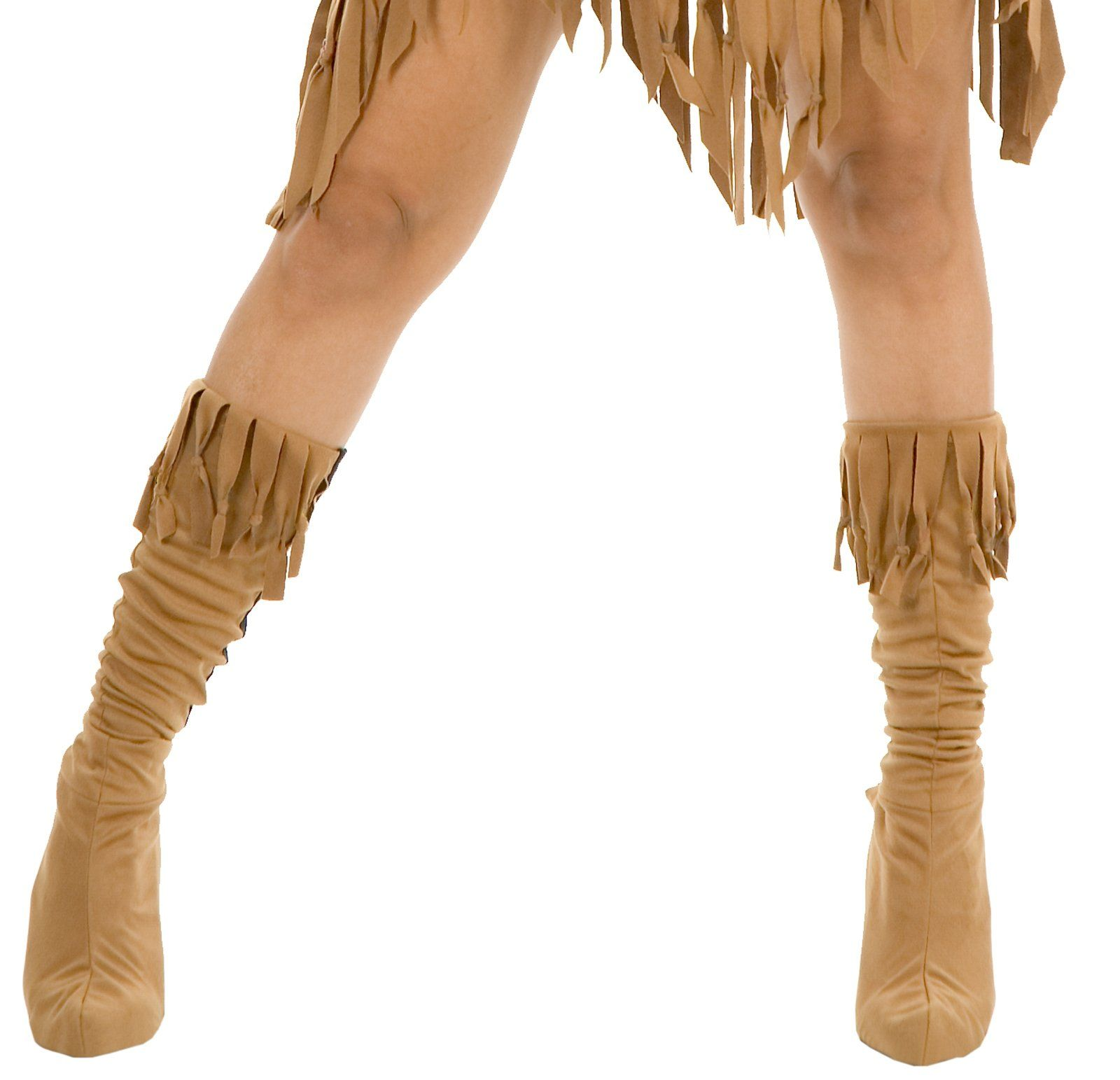 ProductDetail: Accessories Makeup: Shoes Boots Name: Indian Maiden Suede Adult Boot Covers ID: 61089