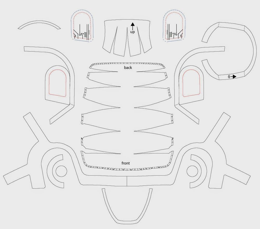 dali-lomo: Daft Punk Guy-Manuel Helmet DIY - Cardboard (with ...