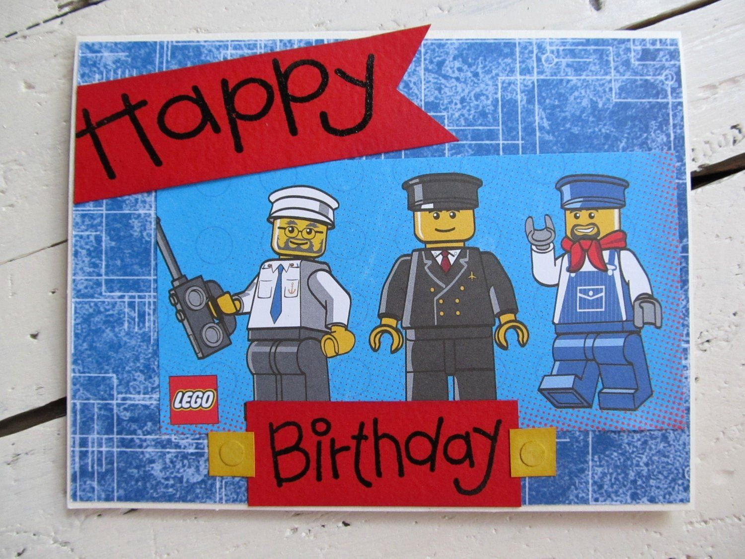 Lego Birthday Card Printable Best Of Lego Birthday Card Happy Birthday By Thecreativecard On Lego Birthday Cards Birthday Card Printable Birthday Card Pictures