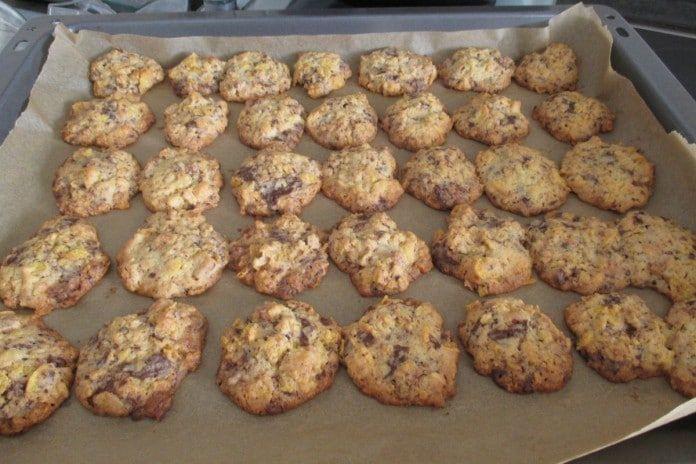 Cornflakes-Kekse mit Schokoladenstückchen schnell und einfach gebacken #konfektjul