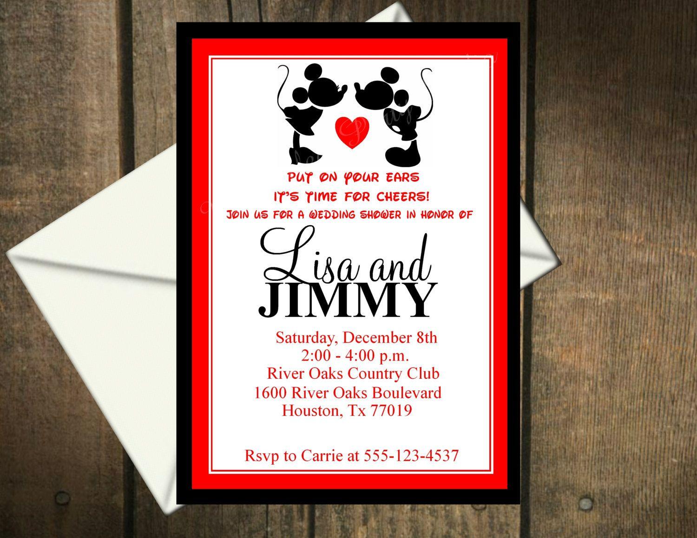 Super cute invitations! | Mickey Mouse Wedding | Pinterest | Mickey ...