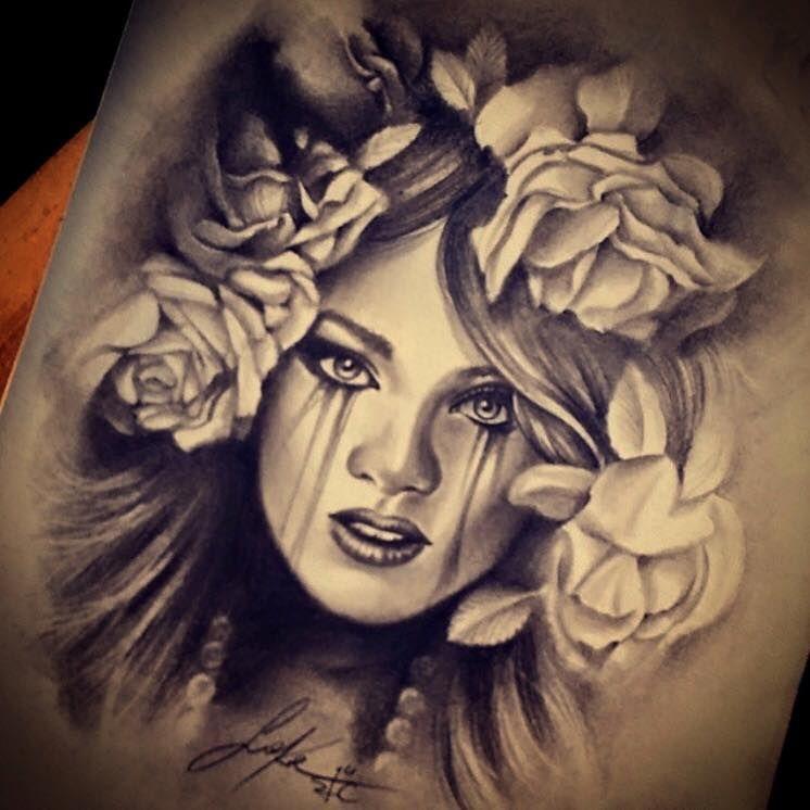 Realistic Portrait Design From Sake Realism Realistic Portrait Sketch Design Drawing Pencil Paper Realism Tattoo Tattoos Sake Tattoo