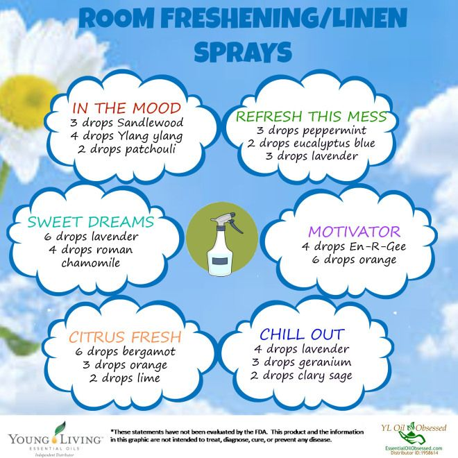 Room spray combos using Young Living oils Join with me and