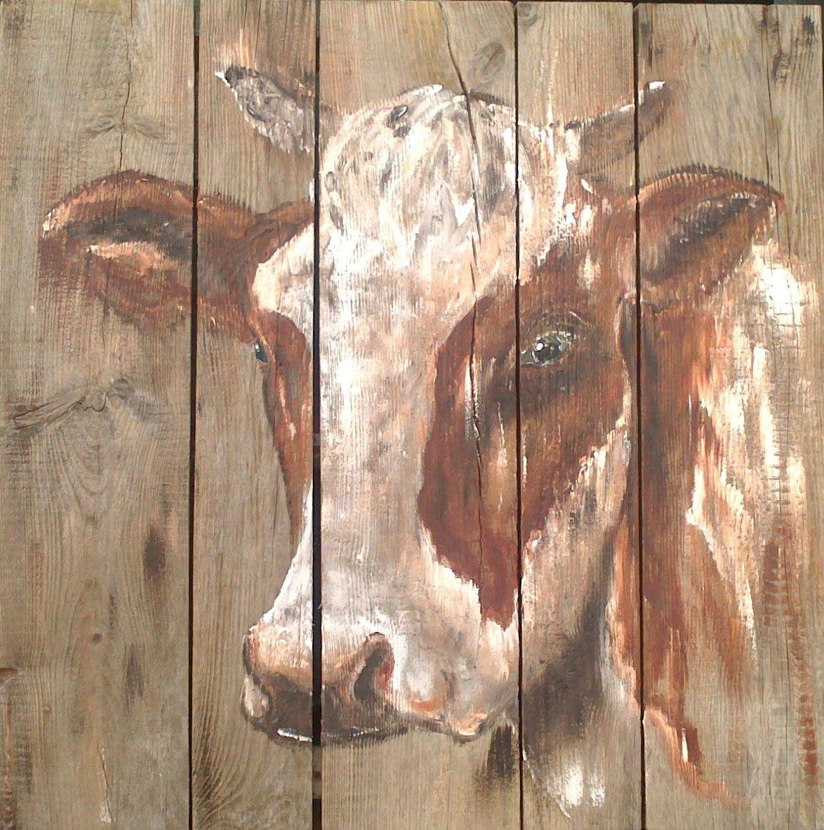 Hedendaags schilderen op hout - Google Search   Koeien schilderen, Hout SE-82