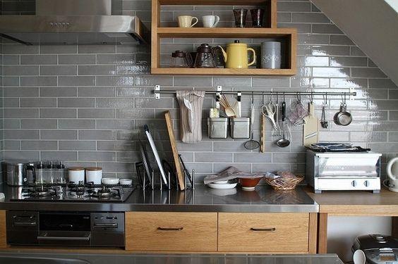 キッチン 壁 タイル Google 検索 キッチンアイデア リビング
