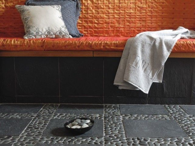 sol galets salle bain - Recherche Google | Salles de bain ...