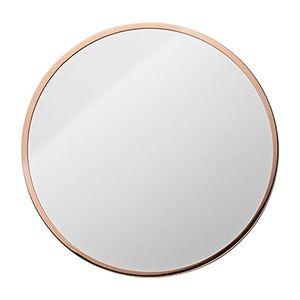 Miroir rond en m tal dor ou cuivr 2 mod les for Miroir rond metal