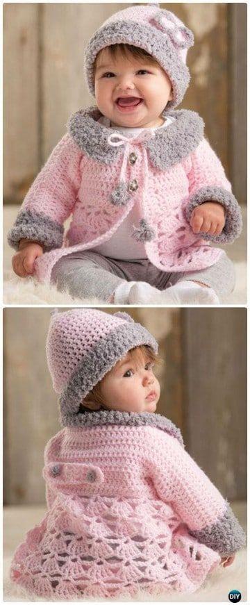 Las chompas tejidas para bebes felices y bien abrigados | tejido ...