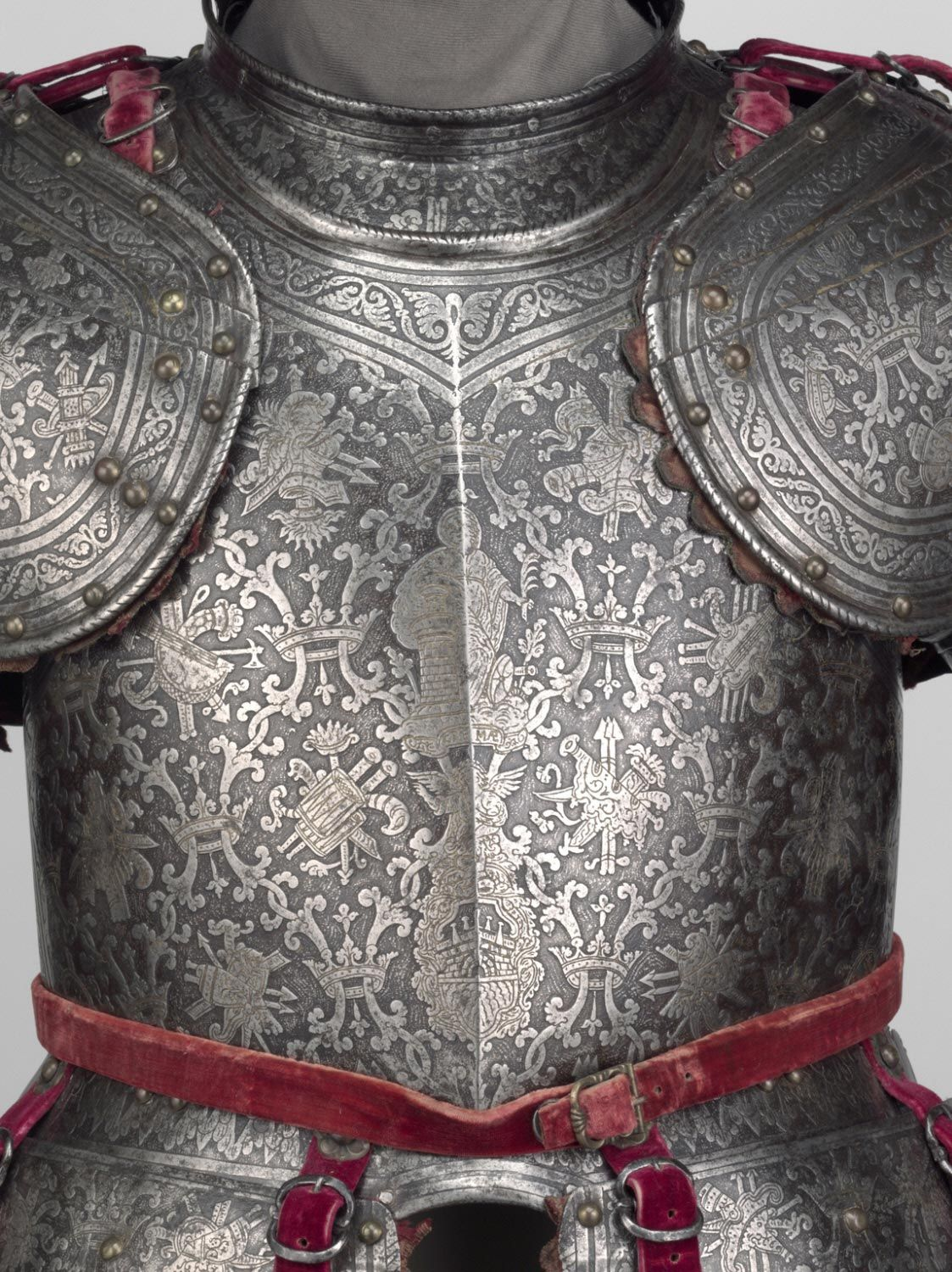 Philadelphia Museum of Art - Collections Object : Half Armor Half Armor For use on foot in the field  Attributed to the armorer Master of the Castle Mark, Italian (active Milan), active c. 1590 - 1620  Geography: Made in Milan, Italy, Europe Date: c. 1600