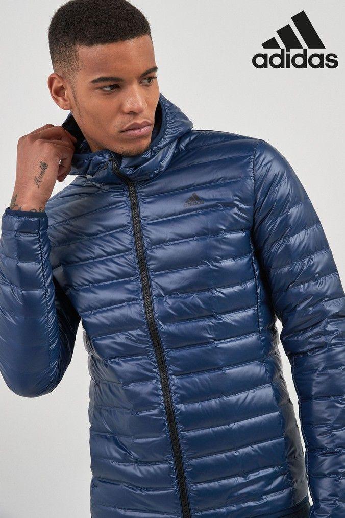 95791c1b7998 Mens adidas Varilite Hooded Jacket - Blue