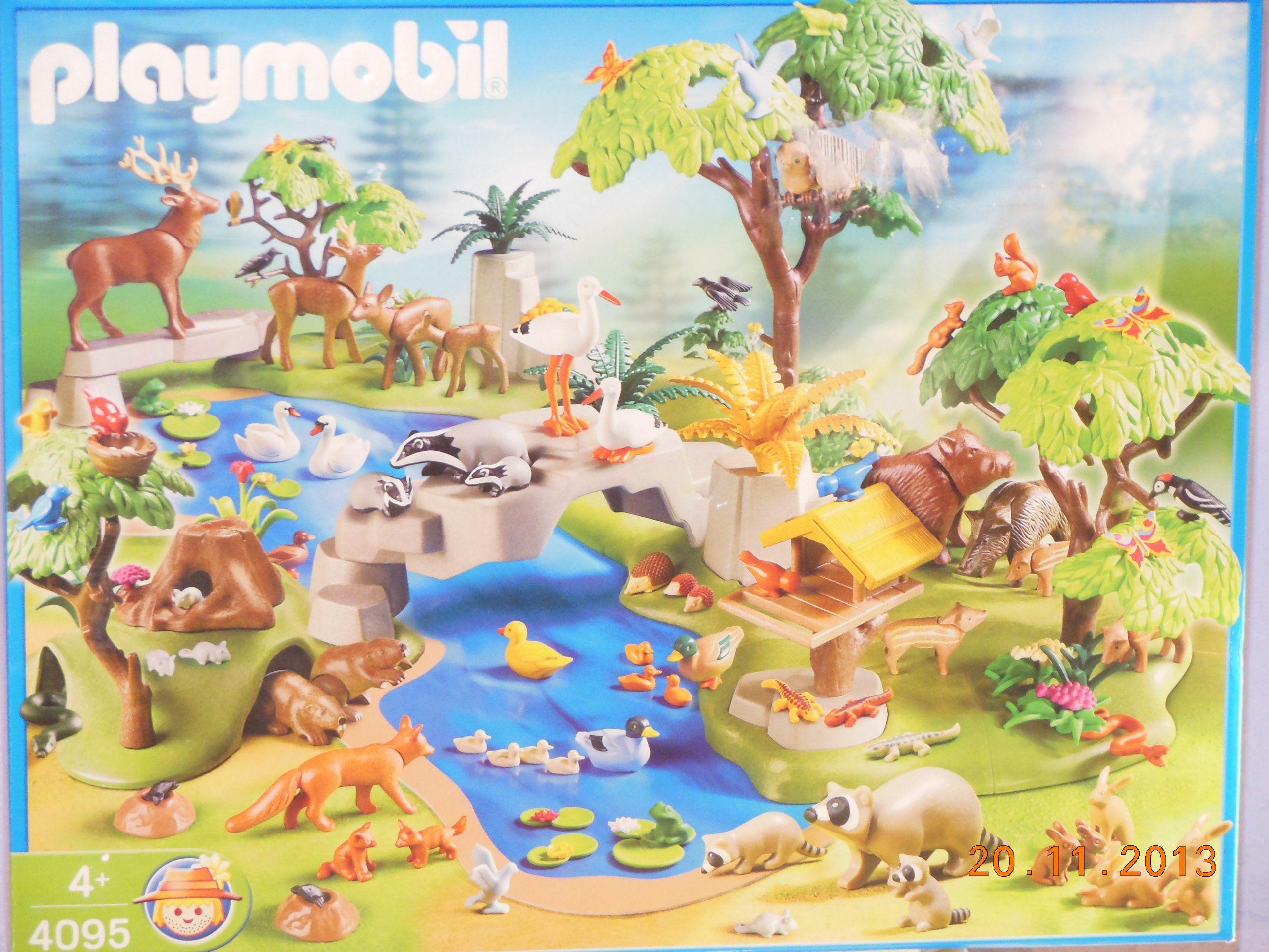playmobil 4095 grand set animaux de la foret pour le. Black Bedroom Furniture Sets. Home Design Ideas