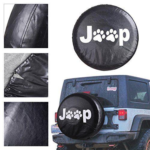 Koval Inc 27 33 Jeep Paw Print Pvc Leather Spare Wheel Tire Soft