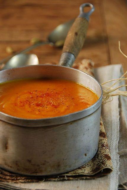 Velouté de potimarron à la cardamome et au curry | Recette ...