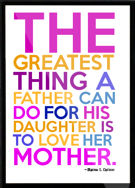 Blessed To Have A Dad Who Loves My Mom, Sister And Me Unconditionally. I  Learned From Him The Kind Of Love That I Should Expect From A Husband, ...