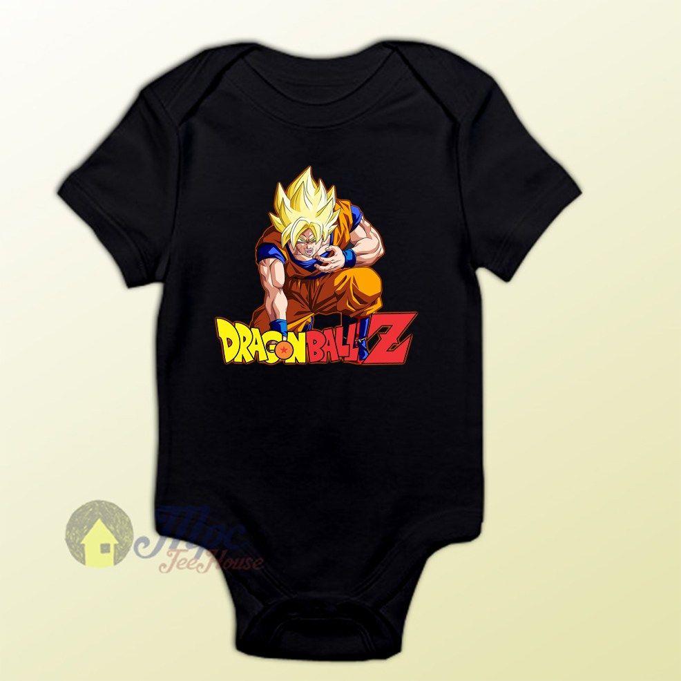 Dragon Ball Z Son Goku Super Saiyan Baby Onesie - Visit now for 3D Dragon  Ball Z shirts now on sale! f0b594147d