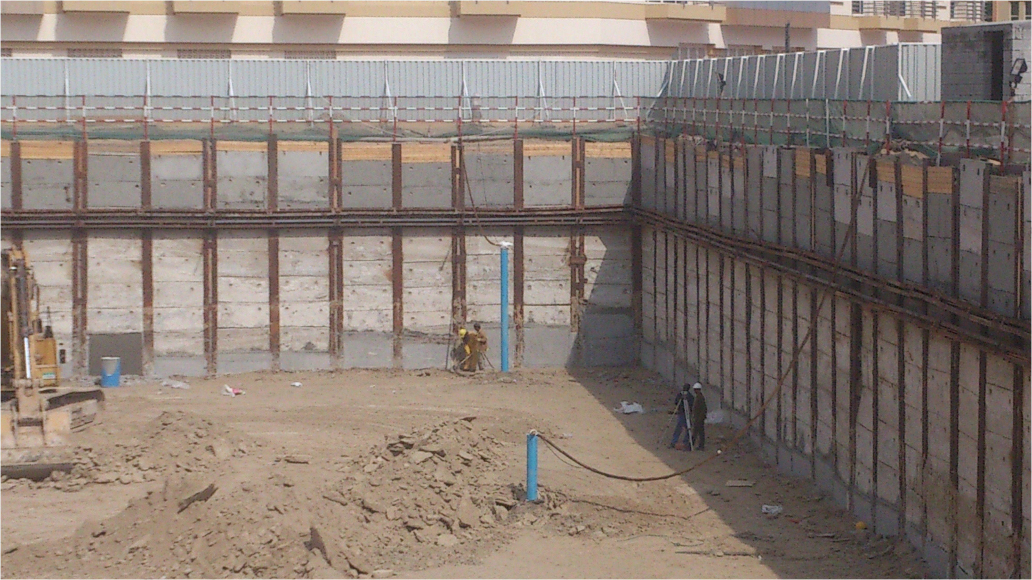 Twin Basement Hotel Project Deepwell Dewatering Khansaheb Sykes From Deep  Basement Construction