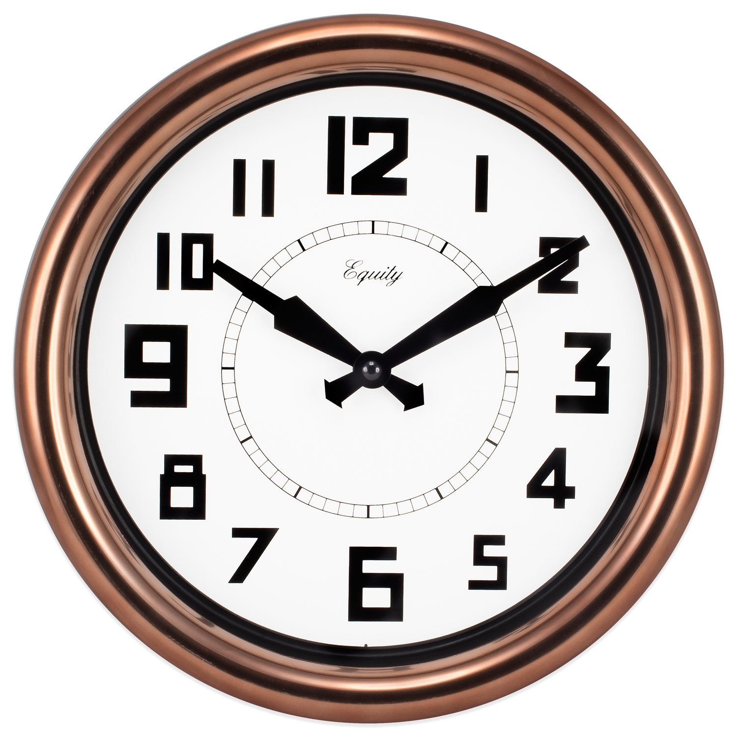 Lacrosse Technology Equity Copper 12 Inch Analog Wall Clock 12 Inch Copper Analog Wall Clock Brown La Crosse Technology Metal Clock Wall Clock Copper Copper Wall