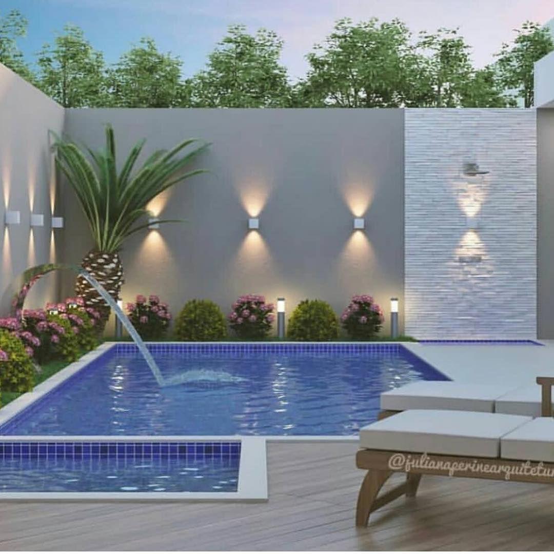 110 Amazing Small Backyard Design Styles With Swimming Pool Realivin Net Paisagismo De Pequenos Quintais Iluminacao Piscina Paisagismo De Piscina No Quintal