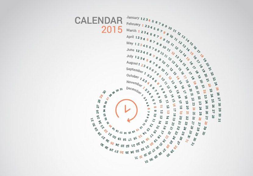 Calendarios creativos gratuitos 2015