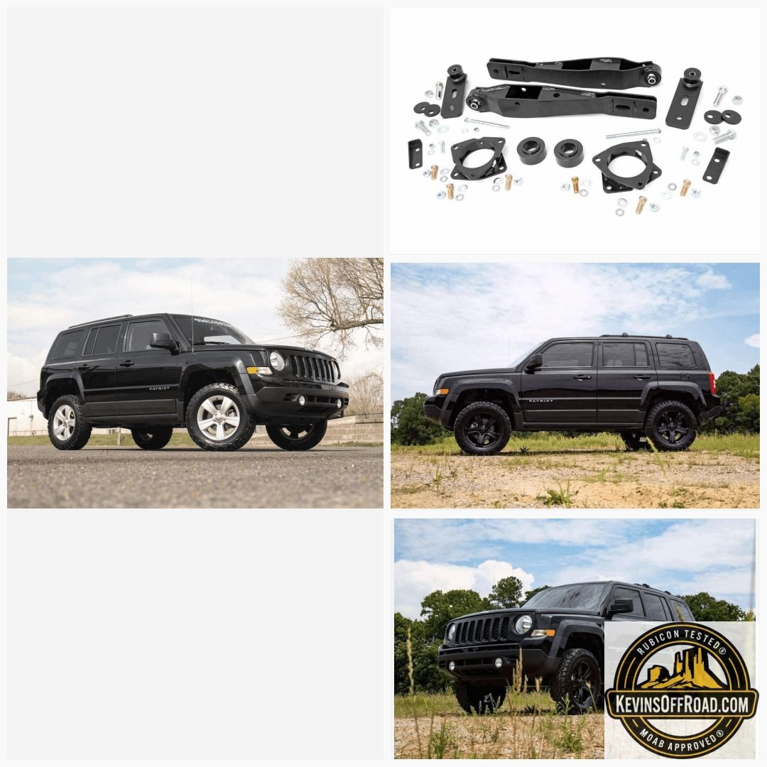 2 Suspension Lift Kit Rough Country Jeep Patriot 2010 2017 4wd Jeep Patriot Jeep Patriot Lifted Jeep