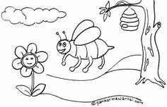 Gambar Lebah Untuk Mewarnai