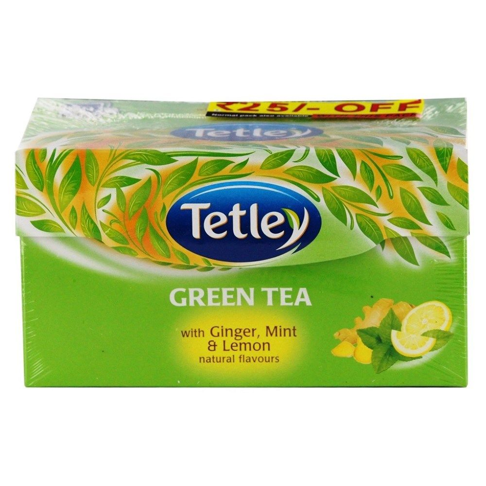Buy Tata Tetley Green Tea With Ginger, Mint And