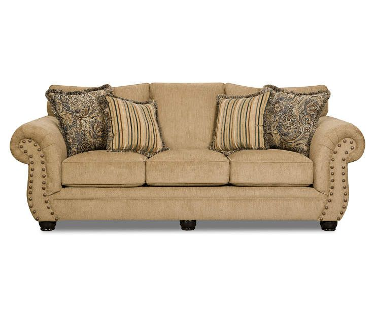 Simmons Morgan Antique Memory Foam Sofa Memory Foam Sofa Traditional Sofa Sofa