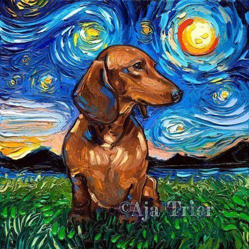 """Портреты собак в стиле """"Звёздной ночи"""" Ван Гога в 2020 г ..."""