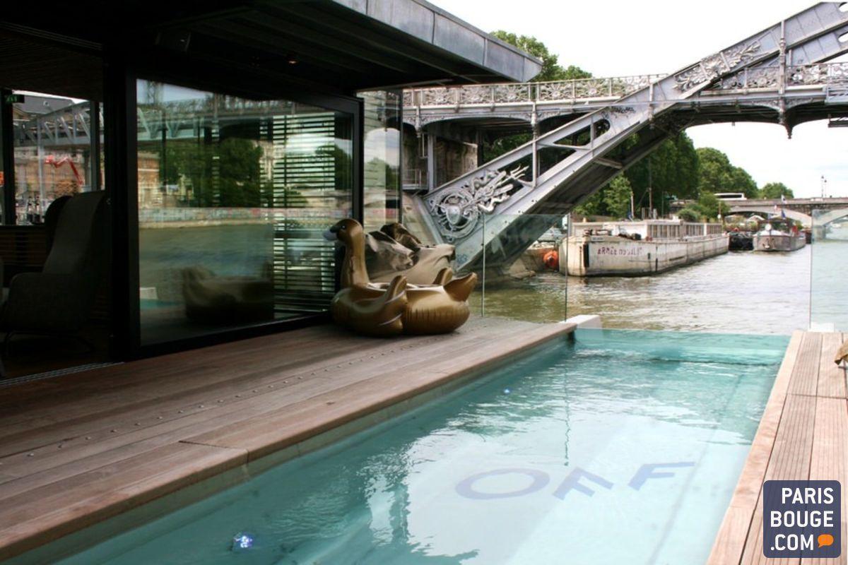 Off paris seine un bar flottant s 39 installe dans un h tel - Hotel avec piscine seine et marne ...