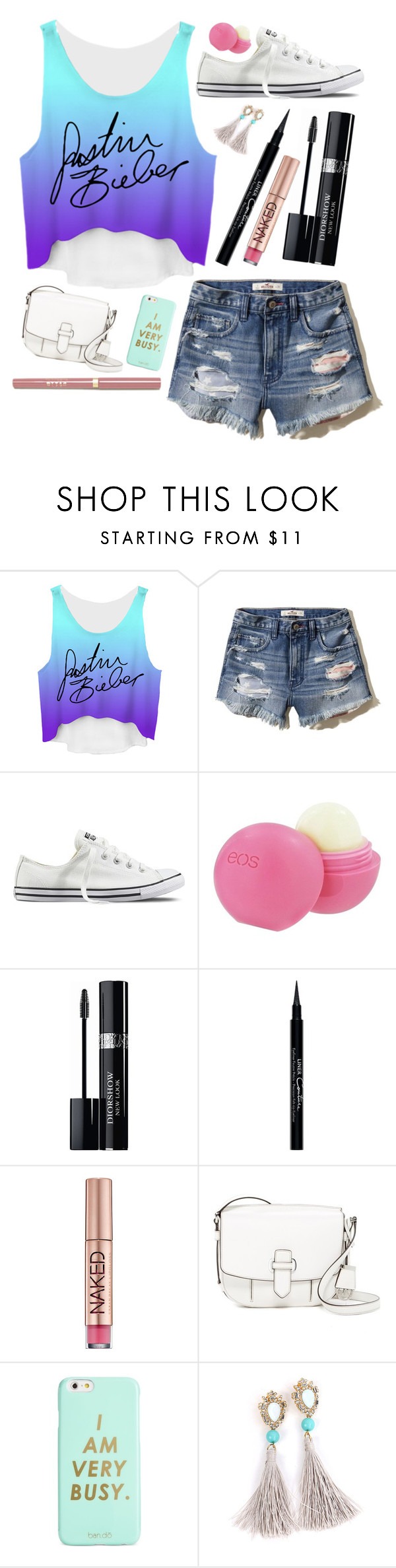 """""""I Am too Busy Belibering 😙"""" by barbiecar ❤ liked on Polyvore featuring Justin Bieber, Hollister Co., Converse, Eos, Christian Dior, Givenchy, Urban Decay, MICHAEL Michael Kors and ban.do"""