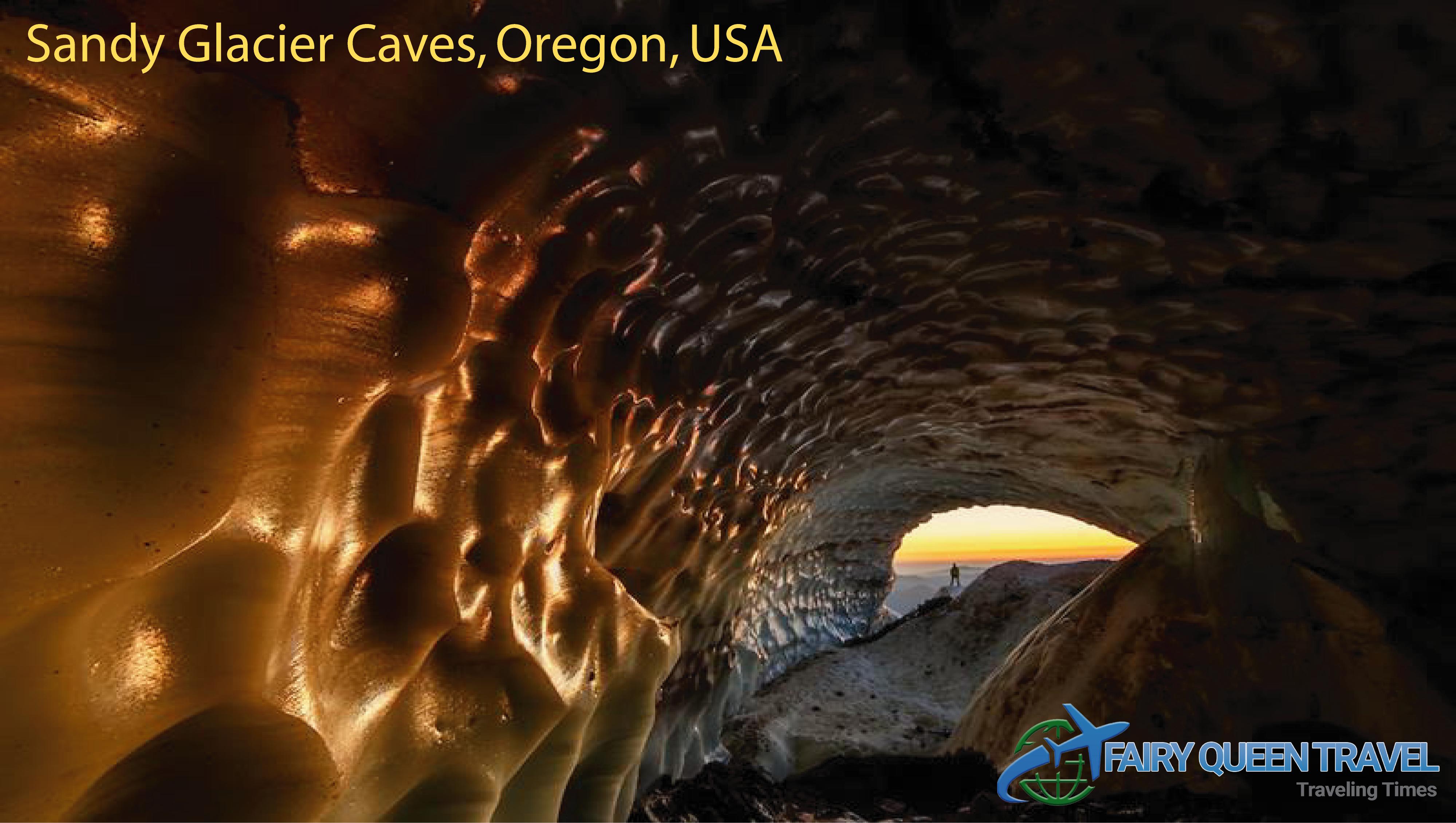 Sandy Glacier Caves, Oregon, USA Sandy Glacier is one of
