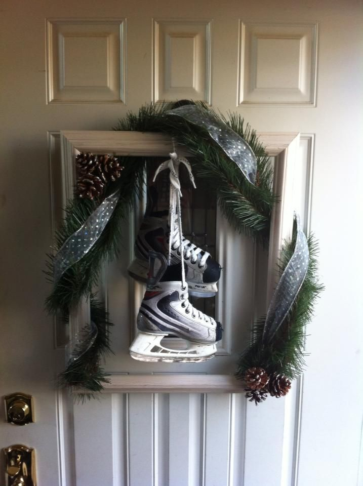 Wreath For Front Door Empty Picture Frame Garland