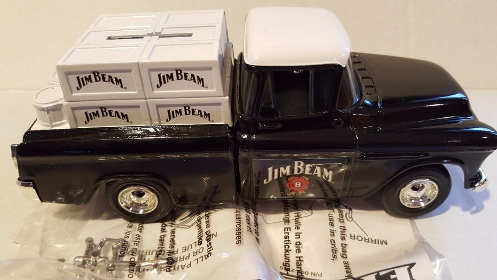 COLLECTIBLE VINTAGE DIE CAST JIM BEAM 1955 CHEVY CAMEO BANK NIB #JIMBEAM #Chevrolet